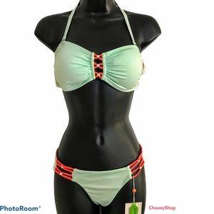 NWT CA by Vitamin Melon Bikini Set